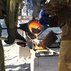 iron pour  at the Spring Arts Festival, Kennesaw State University