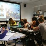 students study artifacts special topics course on archeology in  art history