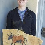 Student Michael Valentini's mock cave painting
