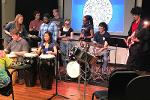 Steel Band performs in KSU World Music class, Spring 2018.