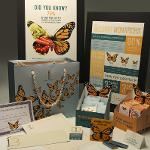 """PACKAGE DESIGN PROJECT: """"Mission Monarchs"""" Awareness of monarch butterfly population reduction; DESIGNERS: Liz Jones and Crys Newberry. Winner of 2018 Graphic Design USA American Package Design Award."""