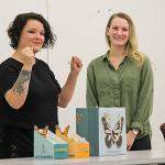 "PROJECT: ""Mission Monarchs"" Awareness of monarch butterfly population reduction; DESIGNERS: Crys Newberry and Liz Jones"