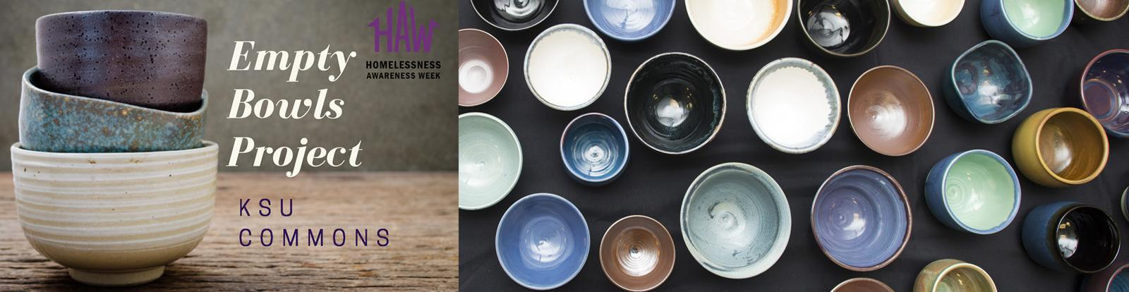 "Join us for the ""Empty Bowls Project"" on Nov. 7th"