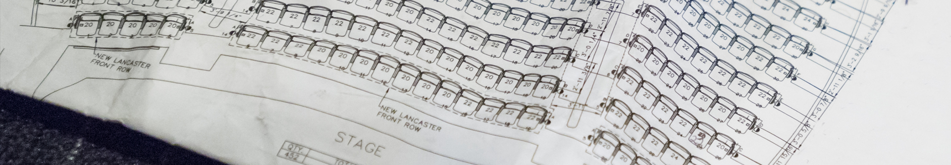 Theater Rental Technical Drawing of Seating