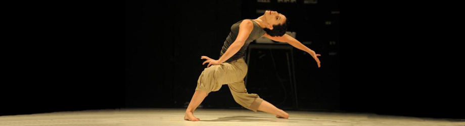 dancer, Ella Ben-Aharon, on stage