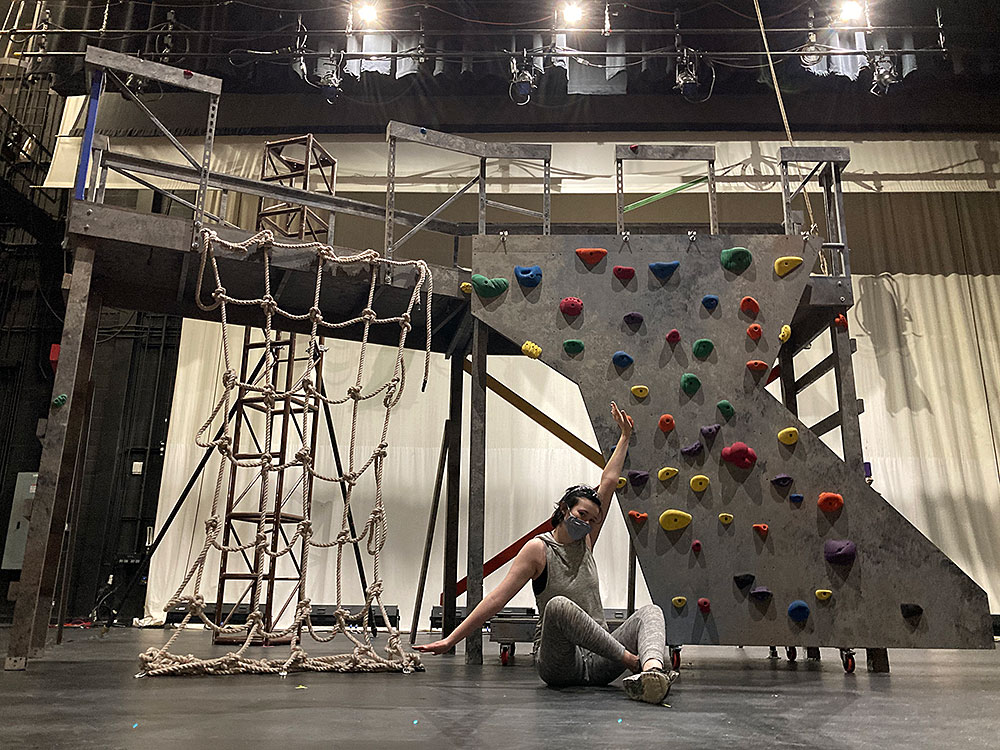 image of jess on stage of grace or the art of climbing