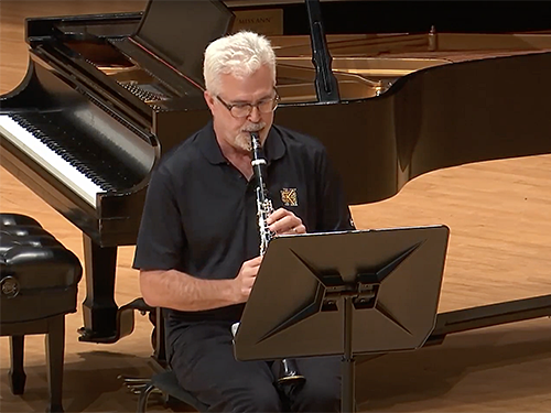 image of John Warren playing clarinet