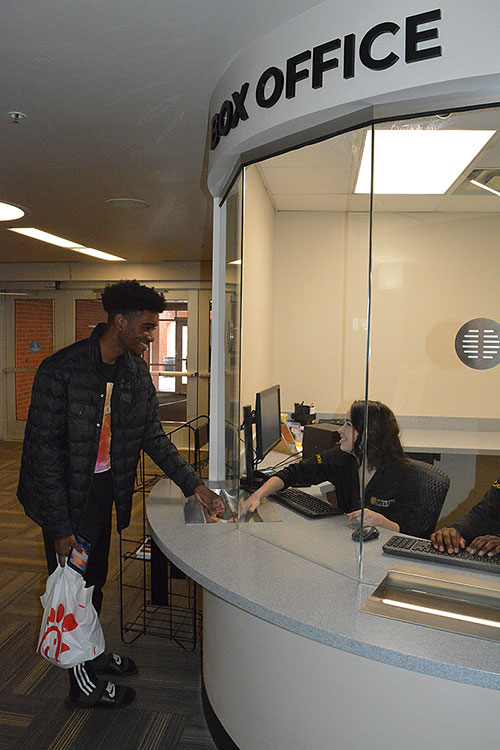 Student Buys Ticket at KSU Box Office