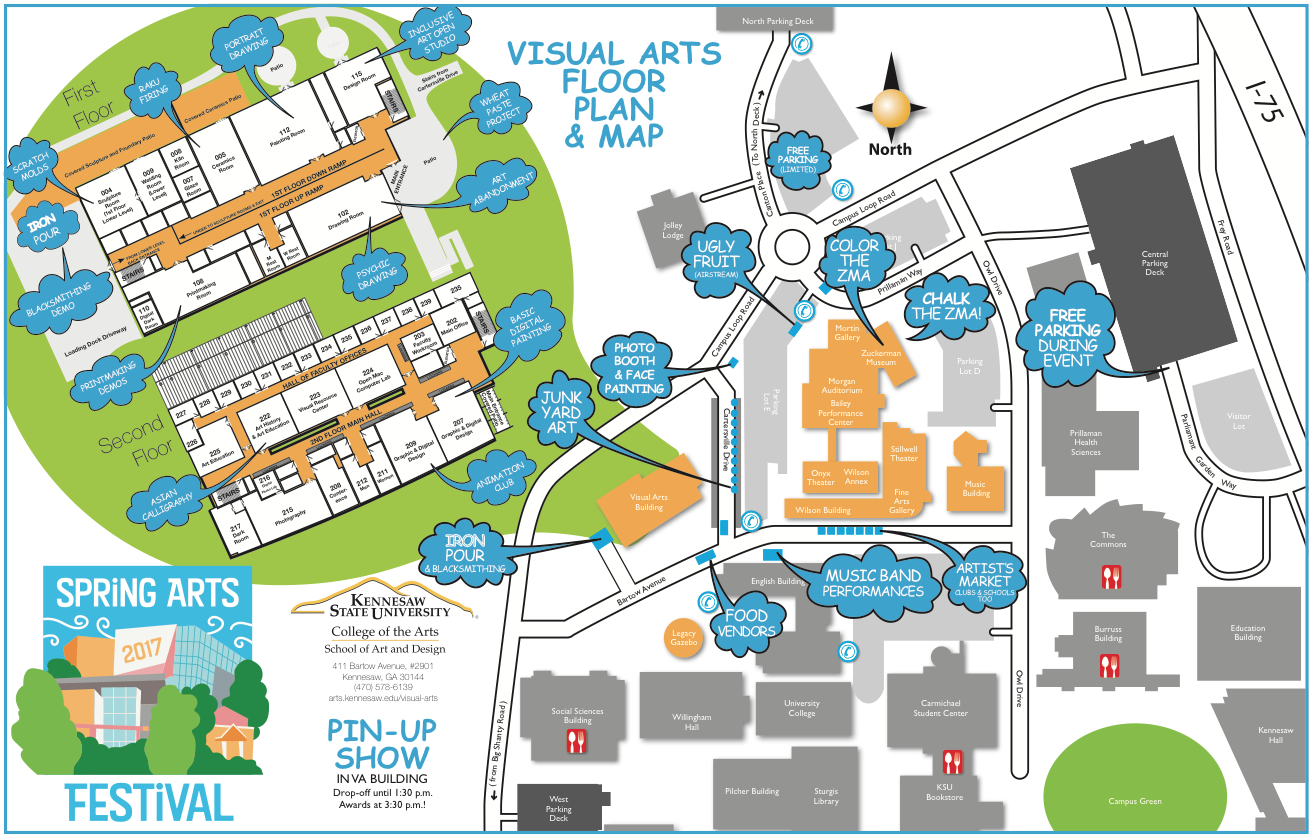 Spring Arts Festival Map of Arts District 2017