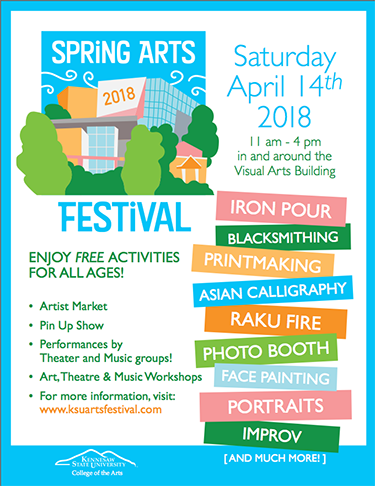 "Spring Arts Festival ""Save the Date"" flyer 2018"