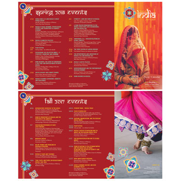 Year of India Brochure designed by student, Kate Thiel