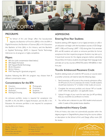 Academic overview and welcome sheet download