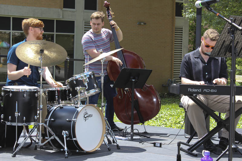 The Jazz Ensemble performs at the 2016 Spring Arts Festival