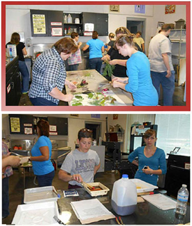 Cobb County Teachers in a Printmaking workshop for the S.T.E.A.M. program