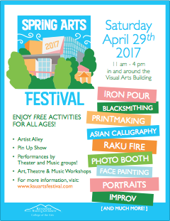 "Spring Arts Festival ""Save the Date"" flyer 2017"