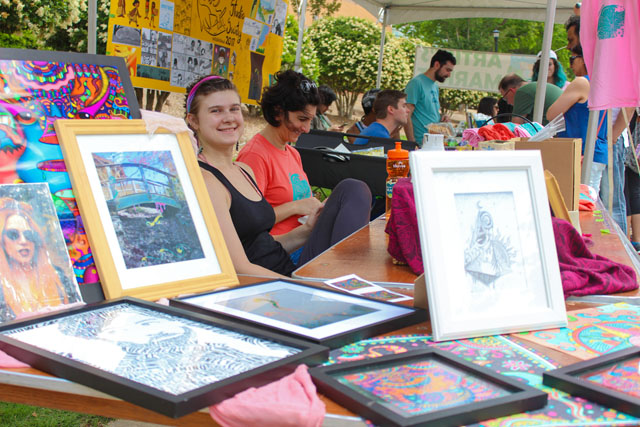 Graphic Design Club sells prints at the 2017 Spring Arts Festival Artists' Market