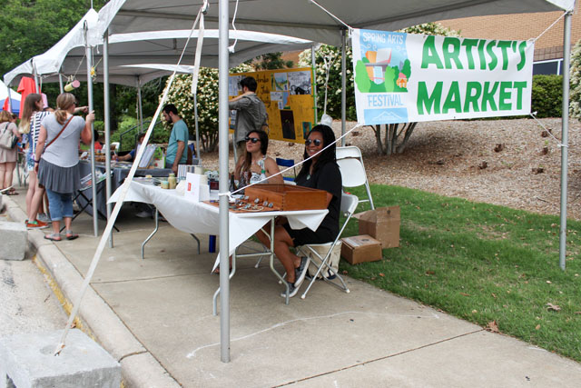 The Artists' Market line-up of booths at the 2017 Spring Arts Festival. We hope to make it BIG in 2018!
