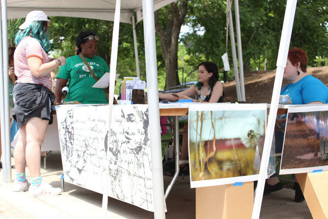The KSU Student Photography Club sells their prints at the 2017 Spring Arts Festival at Kennesaw State!