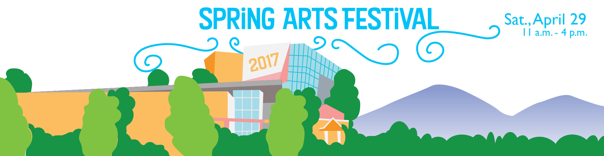 The Spring Arts Festival header graphic.