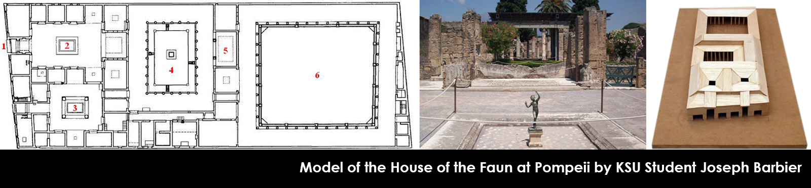 Model of the House of the Faun at Pompeii by KSU Student Joseph Barbier