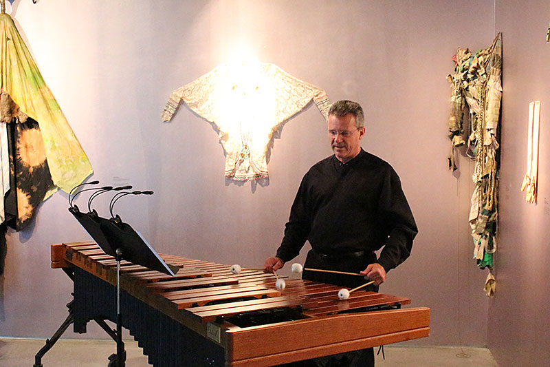 image of John playing percussion
