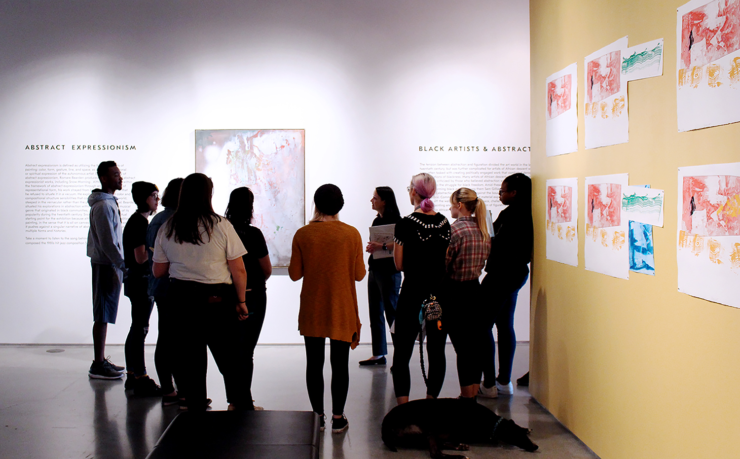 KSU student tour in ZMA UNBOUND exhibition