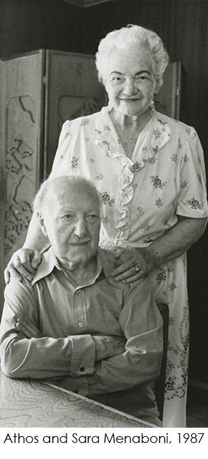 Photo of Athos and Sara Menaboni 1987